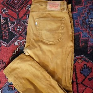 Levis 511 Tan Corduroy Pants
